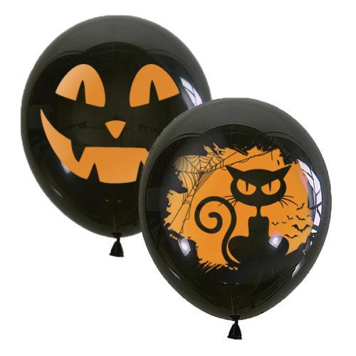 Шар 30 см Хэллоуин Черный Пастель