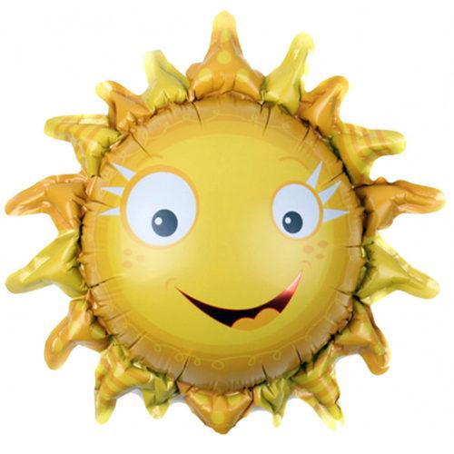 Шар 33 см Мини-фигура Солнышко ясное