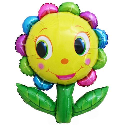 Шар 33 см Мини-фигура Цветок улыбка