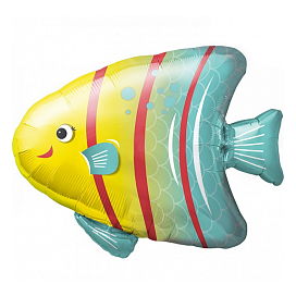 Шар 33 см Мини-фигура Яркая рыбка