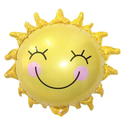 Шар 38 см Мини-фигура Солнышко улыбка Желтый