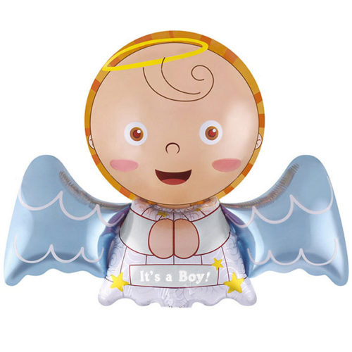 Шар 41 см Мини-фигура Ангел для мальчика