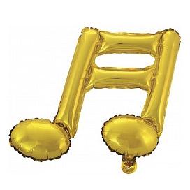 Шар 41 см Мини-фигура Нота двойная Золото