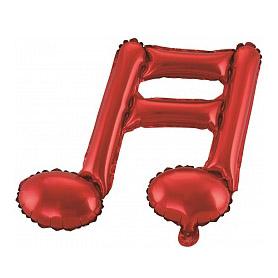 Шар 41 см Мини-фигура Нота двойная Красный