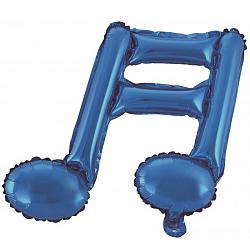 Шар 41 см Мини-фигура Нота двойная Синий