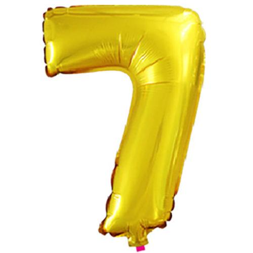 Шар 41 см Цифра Мини 7 Золото