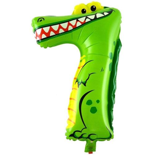 Шар 41 см Цифра Мини 7 Крокодил