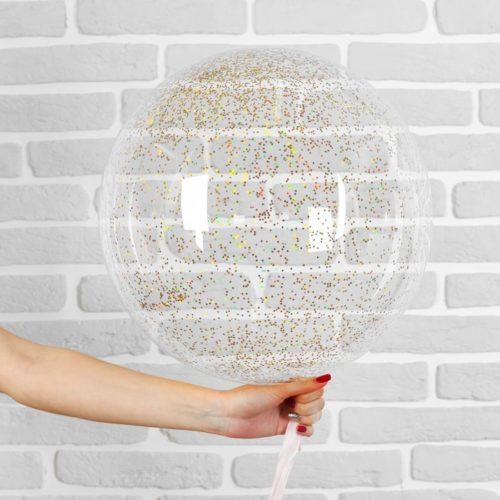 Шар 46 см Сфера 3D Deco Bubble с конфетти Мини Разноцветные