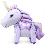 Шар 56 см Ходячая Фигура Единорог Фиолетовый