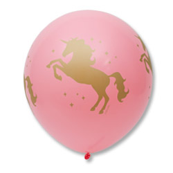 Шар 60 см Единорог розовый