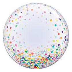 Шар 60 см BUBBLE DECO Конфетти разноцветное