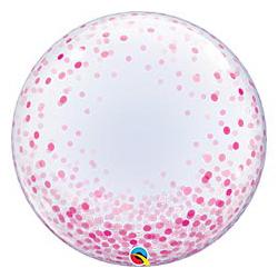 Шар 60 см BUBBLE DECO Конфетти розовое