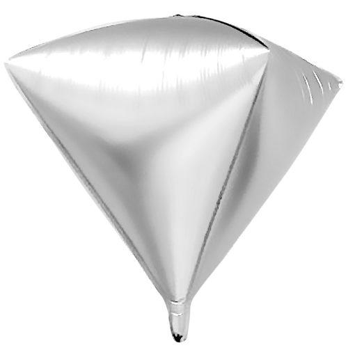 Шар 69 см Алмаз Серебро