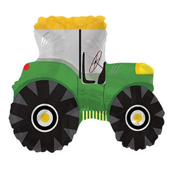 Шар 69 см Фигура Трактор Зеленый