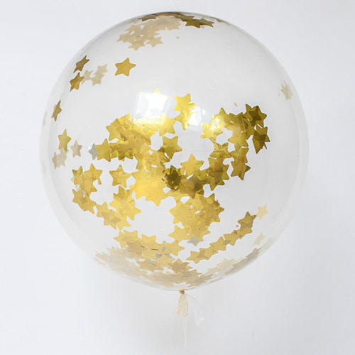 Шар 70 см Конфетти Золотые Звезды