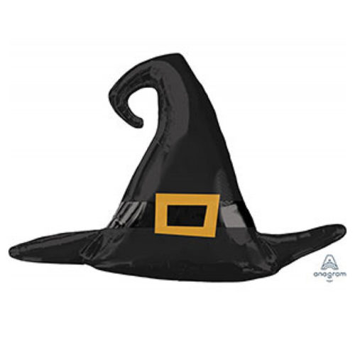 Шар 99 см Фигура Шляпа ведьмы черная