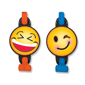 Язык - гудок с карточкой Эмоции Смайлик 8 штук