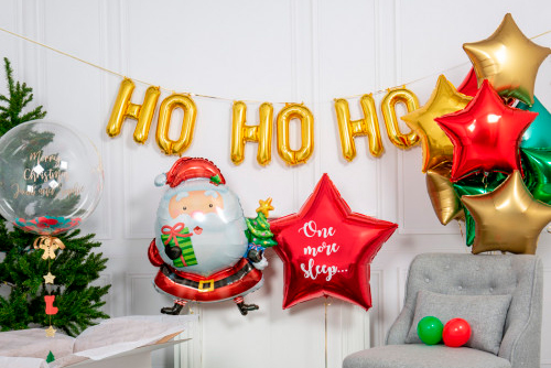 Буквы и надписи из шаров Новый Год