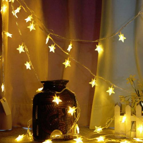 Гирлянда Звезды 3 м х 3 см х 20 ламп от сети