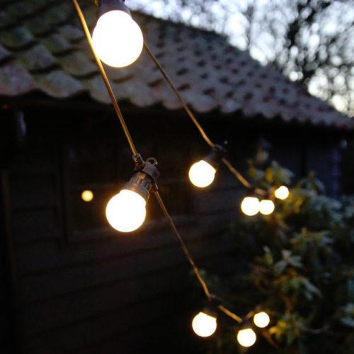 Гирлянда Ретро лампочки матовые 10 м х 5 см х 20 ламп