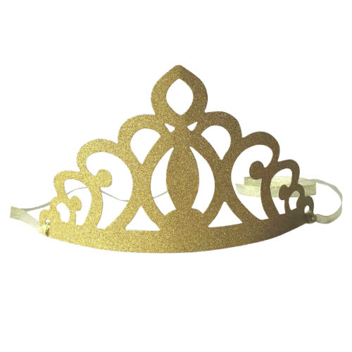 Карнавальная корона бумажная золотая 6 штук