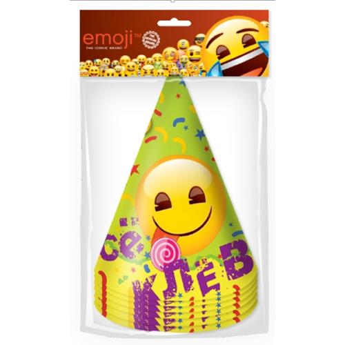 Колпаки Смайл Emoji Желтый 6 штук