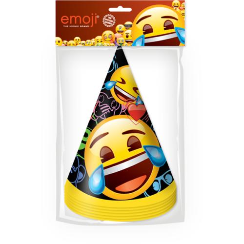 Колпаки Смайл Emoji Черный 6 штук