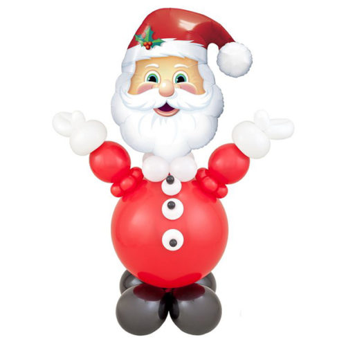 Композиция из шаров Дед Мороз Веселый