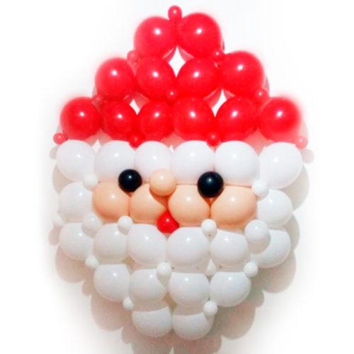 Панно Дед Мороз из воздушных шаров
