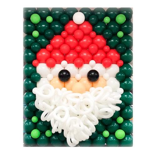 Панно из шаров Дед Мороз