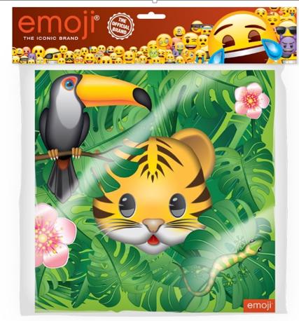 Салфетки 33 х 33 см Смайл Emoji Джунгли 12 штук