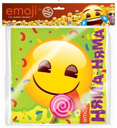 Салфетки 33 х 33 см Смайл Emoji Желтый 12 штук