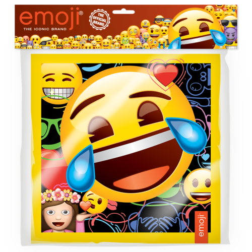 Салфетки 33 х 33 см Смайл Emoji Черный 12 штук