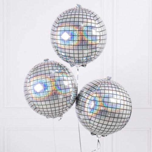 Связка из воздушных шаров Диско-шар