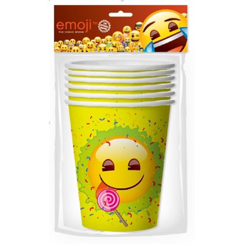 Стаканы 255 мл Смайл Emoji Желтый 6 штук