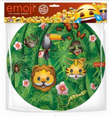 Тарелки 18 см Смайл Emoji Джунгли 6 штук