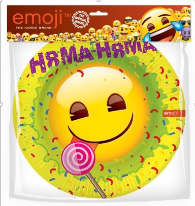 Тарелки 18 см Смайл Emoji Желтый 6 штук
