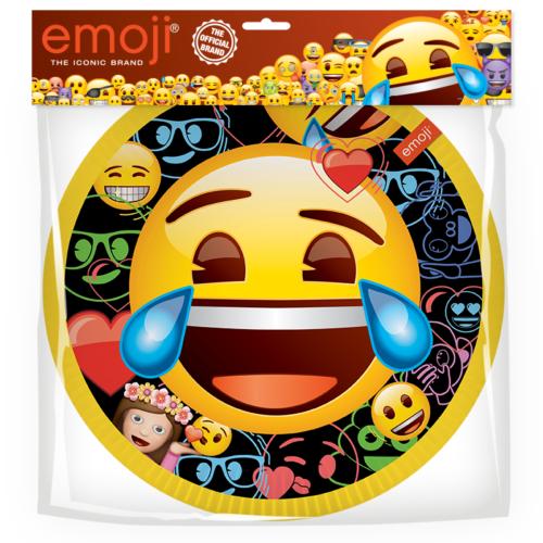 Тарелки 18 см Смайл Emoji Черный 6 штук