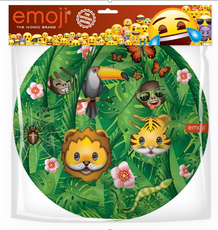 Тарелки 23 см Смайл Emoji Джунгли 6 штук