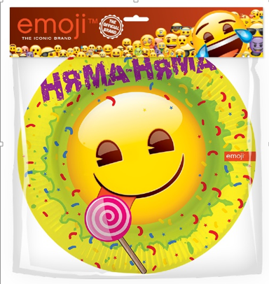 Тарелки 23 см Смайл Emoji Желтый 6 штук