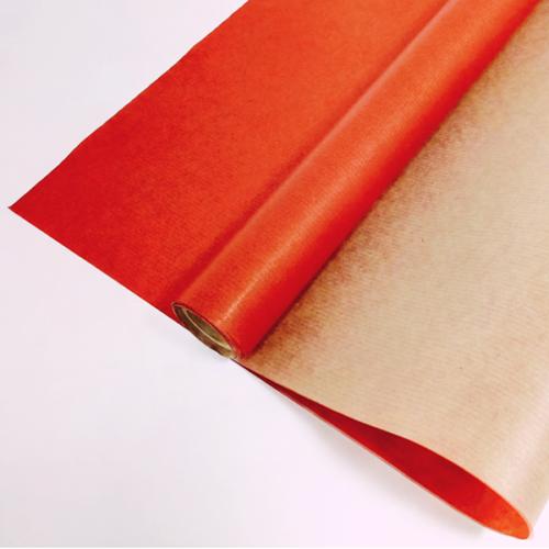 Упаковочная бумага Крафт 0,72 х 10 м Красный