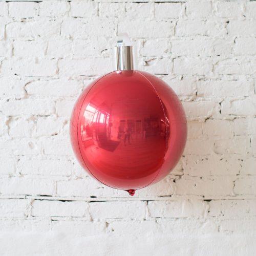 Шар Елочная игрушка Красный летающий