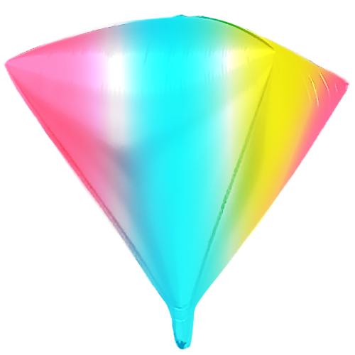 Шар 104 см Алмаз Радужный