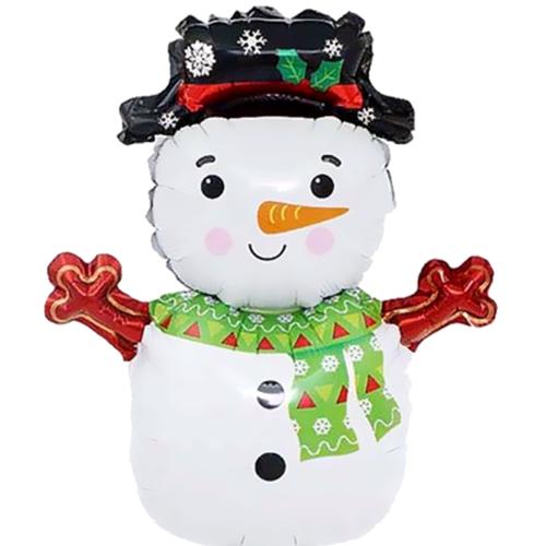 Шар 28 см Мини-фигура Снеговик