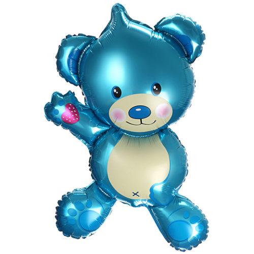 Шар 36 см Мини-фигура Плюшевый мишка Голубой