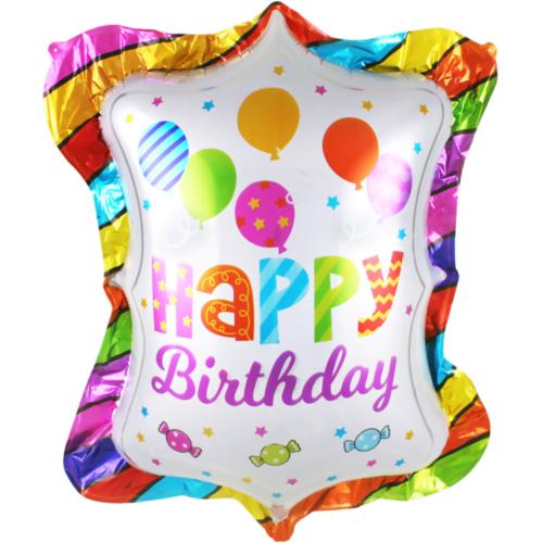 Шар 79 см Фигура С Днем Рождения Шарики и конфеты