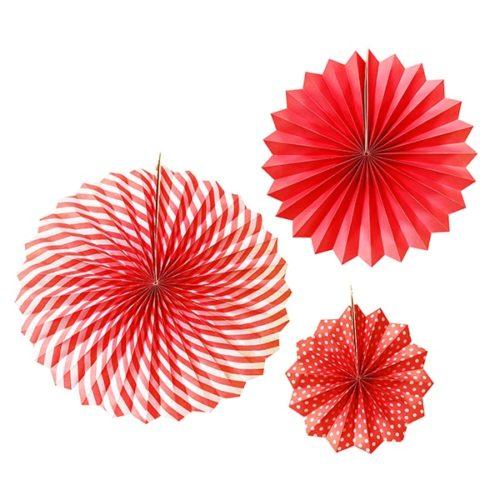 Набор бумажных фантов 20 30 40 см Красный 3 штуки