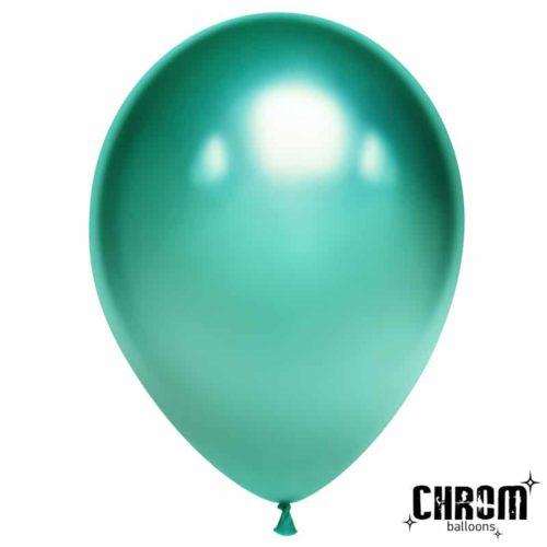 Шар 30 см Зеленый Хром
