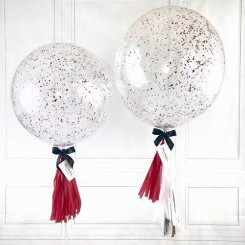 Большие шары 60 и 70 см с Конфетти и Валентинкой на выбор