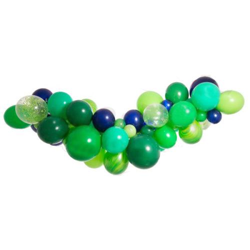 Гирлянда из шаров Зеленый Ассорти 1 метр